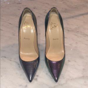 Christian Louboutin size 37 iridescent high heels.